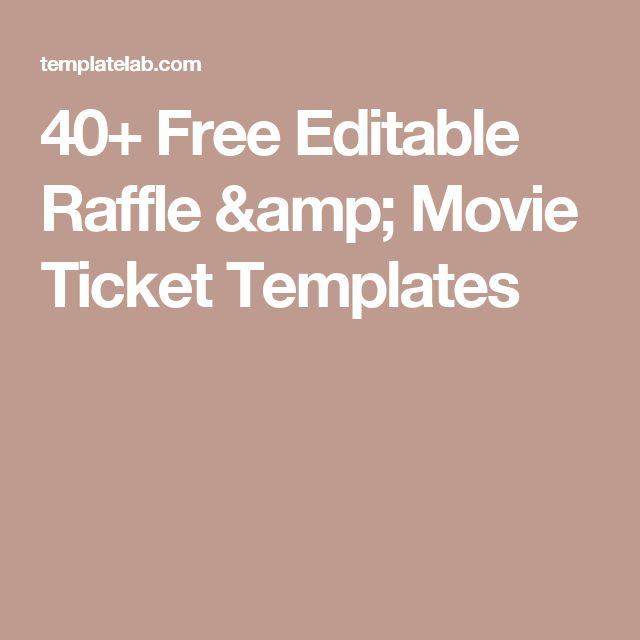 Free Ticket Maker Template] Movie Ticket Templates 17, Concert ...