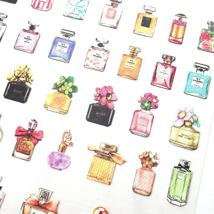 Girly Perfume Planner Stickers - www.PaperPanduh.com