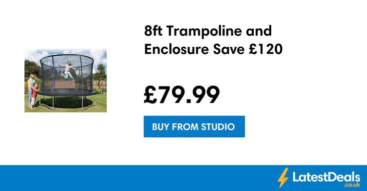 8ft Trampoline and Enclosure Save £120, £79.99 at Studio