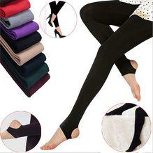 Las mujeres de invierno Medias caliente de Punto Las Mujeres Pantimedias Medias de Terciopelo Grueso Sólido pantalones Calientes Sexy flaco pantalones para las mujeres(China (Mainland))