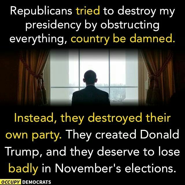 Truth! What you sow, you shall reap. You created this monster called Trump and he will destroy those who created him.