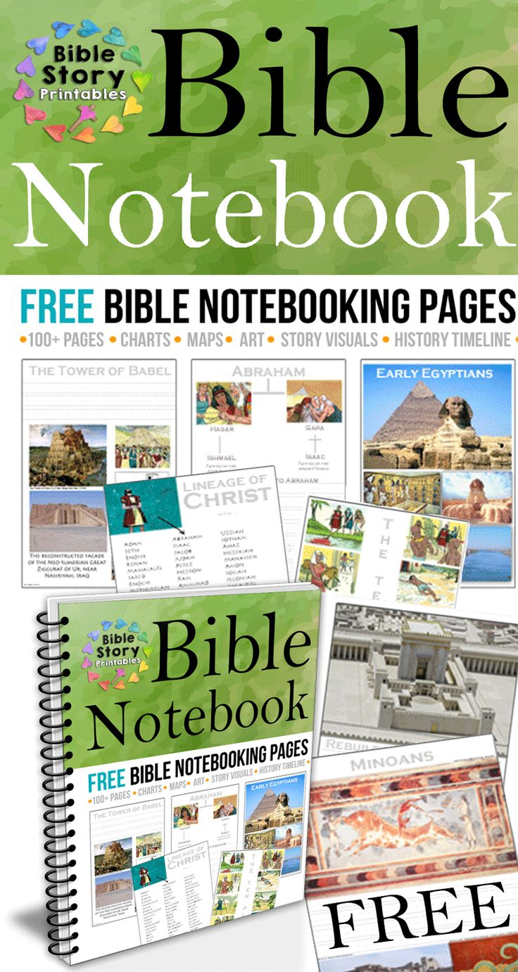 Free Bible Notebooking Pages. Full Color Visuals for homeschool history notebooks. http://www.biblestoryprintables.com/BibleNotebooking