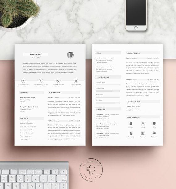 #Resume #Template for Instant Download   #Microsoft #Word Template   #Instant #Download