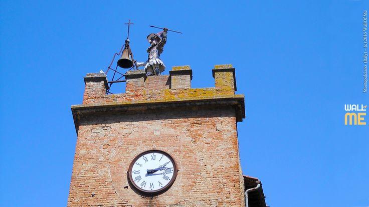 2016, week 42, Pulcinella Clock Tower, Montepulciano (Italy). Picture taken: 2012, 08