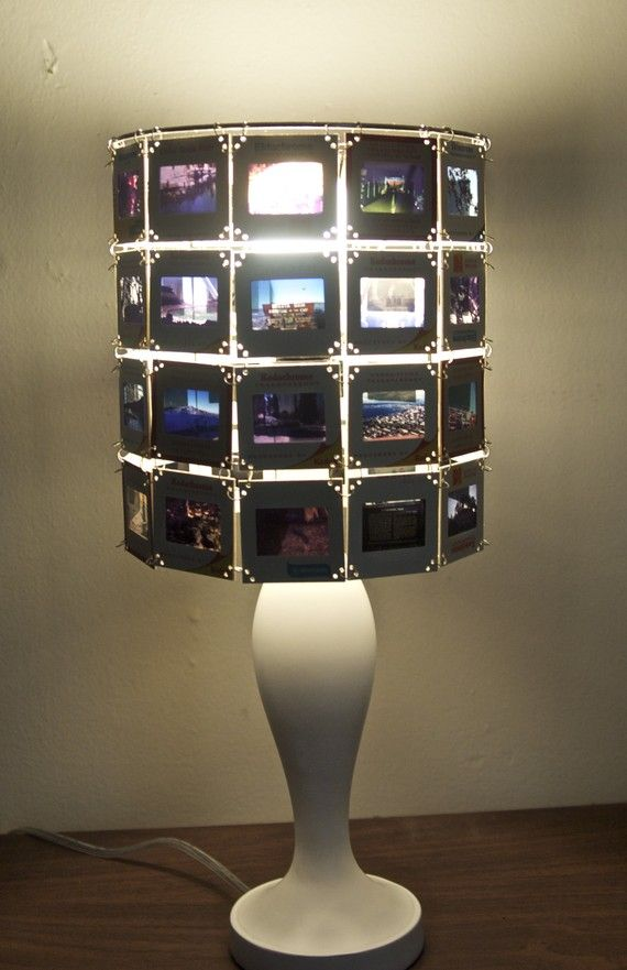 Photo slide lamp (Hmm...what did I do with all those old slides from art school?...oh, yeah, tossed them out)