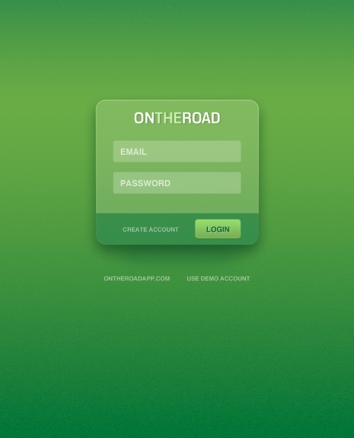 Login Screen for OnTheRoad Sales App