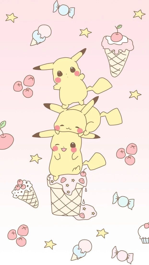 Pin By 𝚜𝚙𝚘𝚘𝚔𝚢 𝚌𝚊𝚝 On Wallpaper Cute Kawaii Drawings Pikachu Wallpaper Cute Cartoon Wallpapers