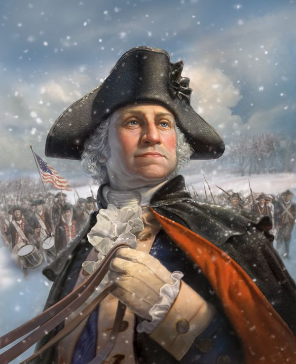 George Washington at Valley Forge. My 5th Great Grandfather on my Grandmother, Phoebe Ann Wickwire's side was with George Washington when he crossed the Delaware and fought at Valley Forge with him.