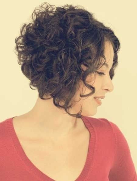 Hairstyles for Curly Short Hair: Women Haircut