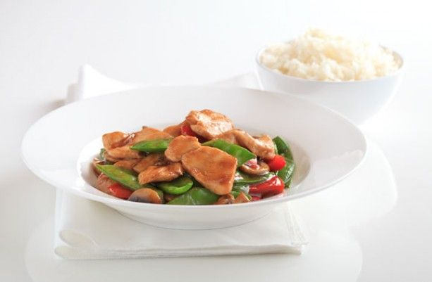 Chicken and snow pea with oyster sauce Recipe