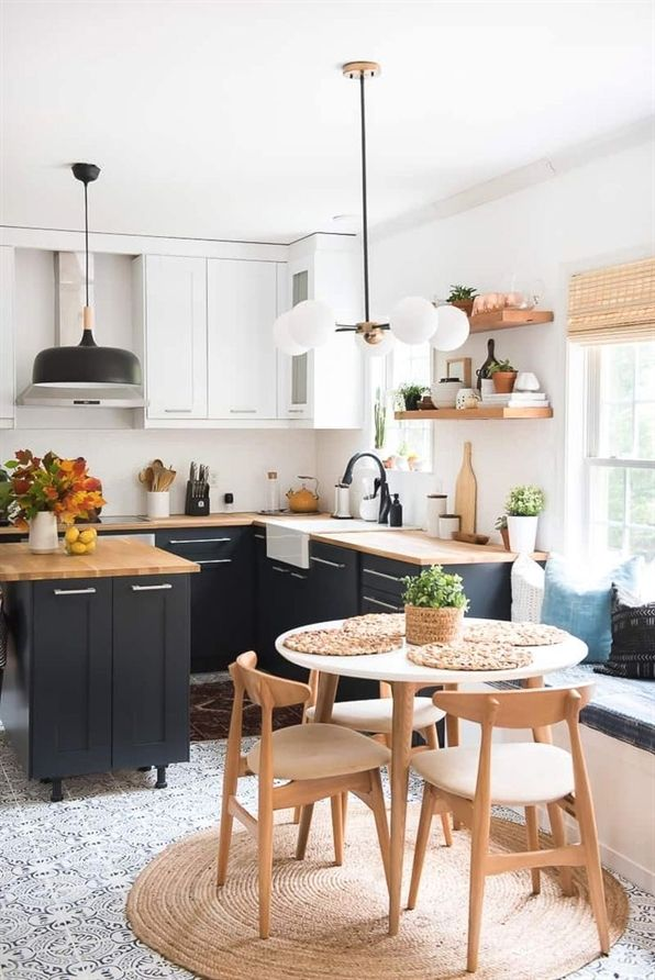 wow what a transformation this two toned modern kitchen is amazing rh pinterest com