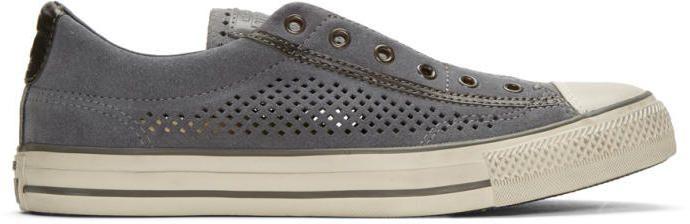 Converse by John Varvatos Grey Suede CTAS Vintage Slip Sneakers