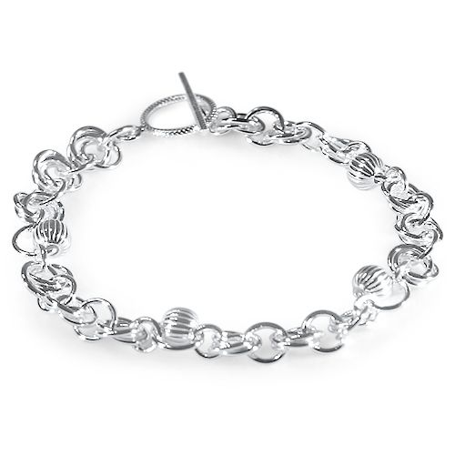 "CS106 - Elas jewellery box - Intricate ""Infinity"" chainmaille pattern braclet"