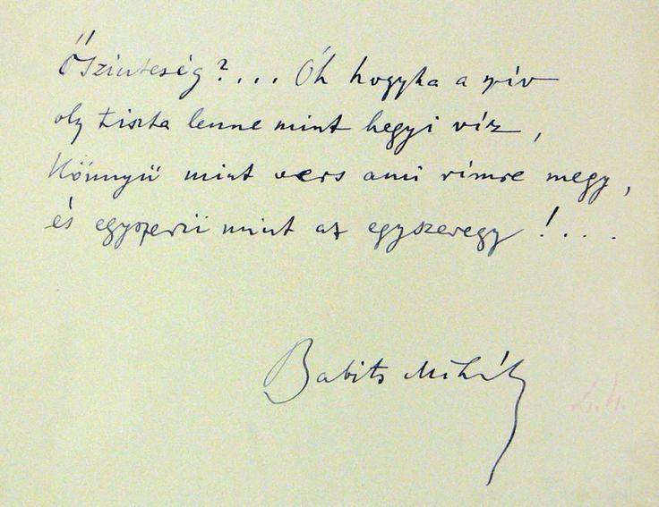 Babitsh Mihály kézirata - 1925