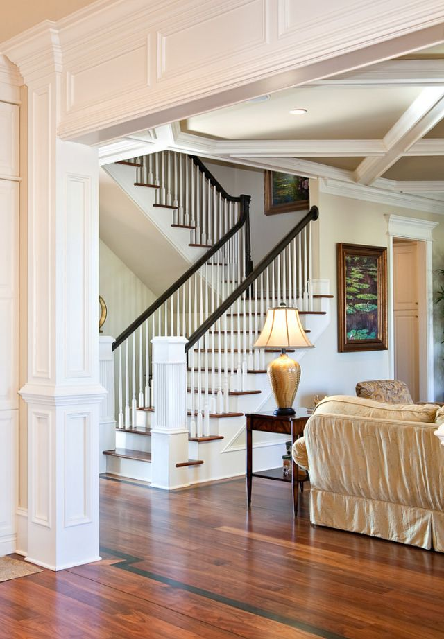 staircase - can't decide which style I like....this is a bit more bulky & substantial than others.