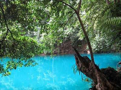 Blue lagoon, Vanuatu. We rented a car a found this incredible spot...