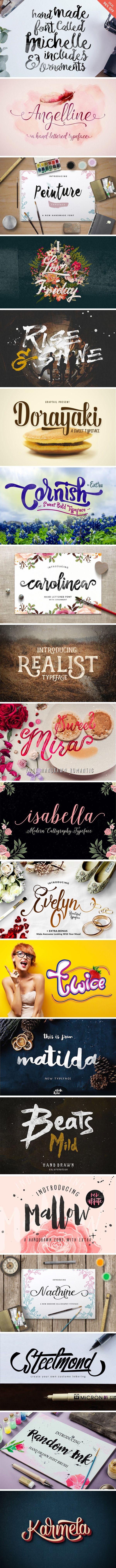 Top Creative Font Bundle GraphicBurger Typeface