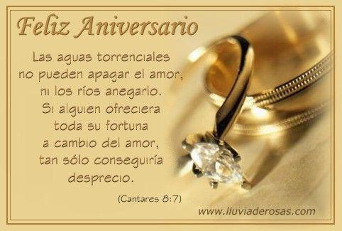 aniversario de bodas | Feliz Aniversario De Bodas | Frases | Pinterest