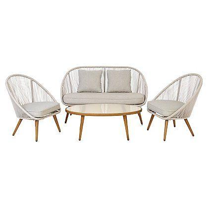 nerja 4 piece sofa set home sofa set garden sofa set garden sofa rh pinterest com