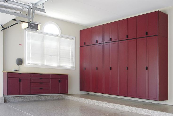 Love the closed in storage units (no clutter on display). mounted to walls, so floor is easily sprayed down without damaging storage units.