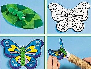 Butterfly Life Cycle Craft. Maybe use a tp roll for the cocoon, paint a tp roll green for chrysalis...