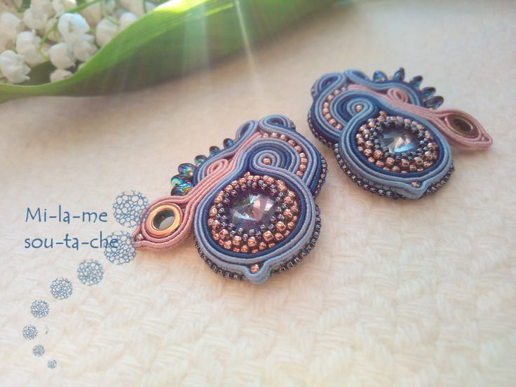 Soutache Shoe clips - desing and made by Milame Sotache