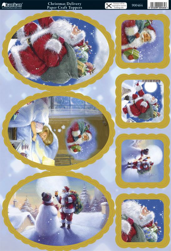 Kanban Christmas die cut toppers - Christmas Delivery