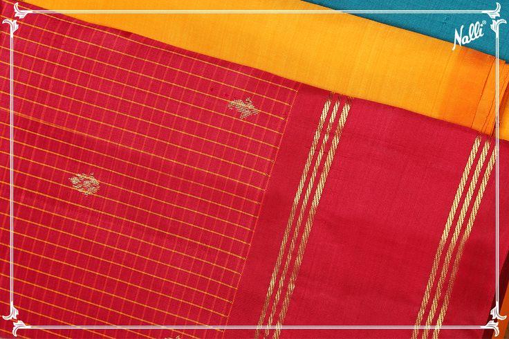 Yellow Kanchipuram Silk Saree with Zari butta on body and Zari border.BUY HERE: