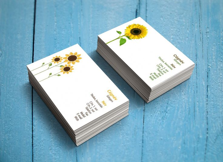 Sunflowers_Latest business card templates