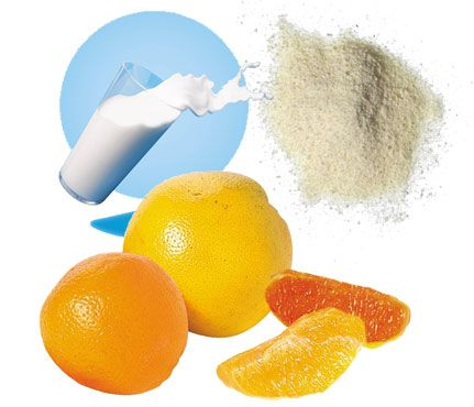 Super Slougher: Scrub out stress with this fruit-infused recipe. Ingredients - 1/2 cup heavy cream, 1/2 cup corn meal, 1/4 cup Grapefruit juice. Cool in the fridge, scrub onto your face for two minutes, then rinse. The cornmeal will remove dead skin cells without causing irritation, and the grapefruit juice contains salicylic acid that'll prevent breakouts (plus, it smells good!)