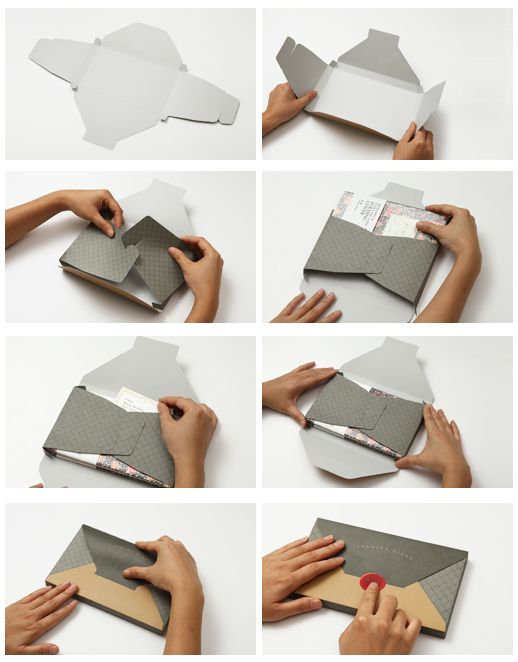 solid folding planner envelopes