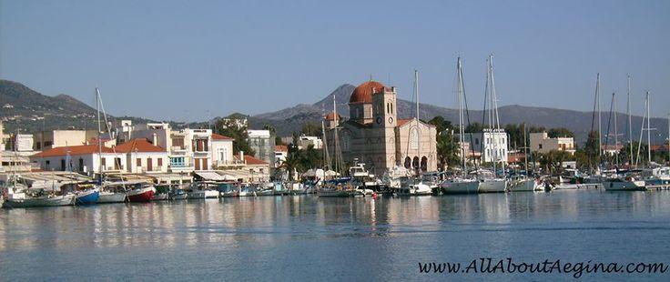 The town of Aegina, a beautiful Greek island close to Athens!