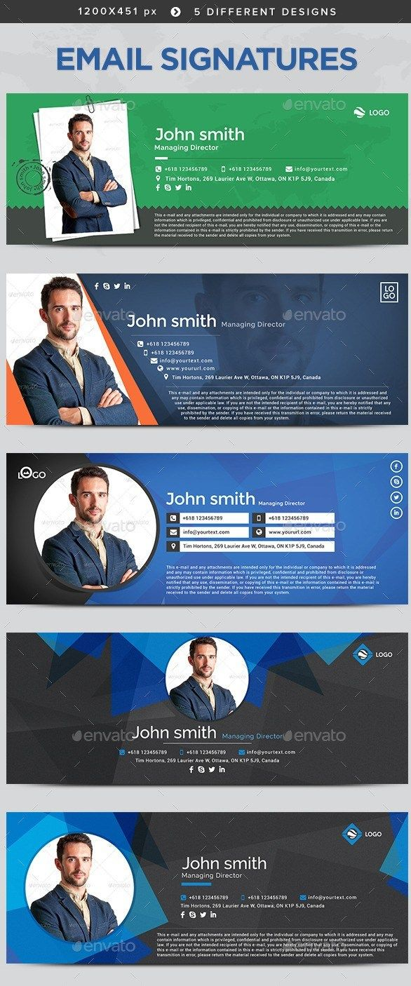 15+ Best Email Signature Templates – PSD & HTML Download   Best ...