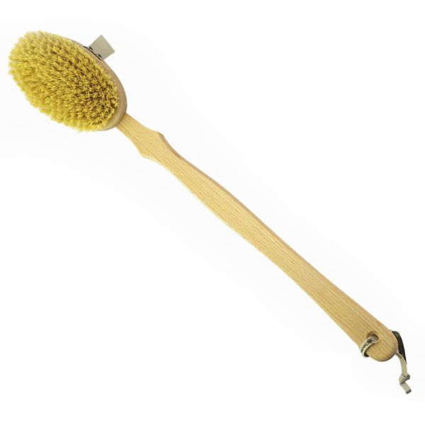Bodecare Dry Body Brush - Tampico Bristle with removable handle