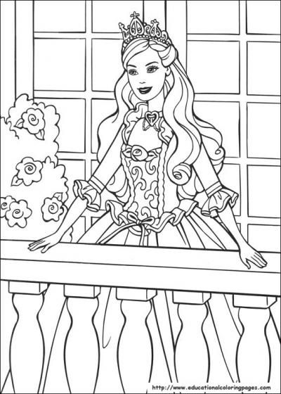 barbie and princess coloring pages free printable - Coloring Pages Princess Printable