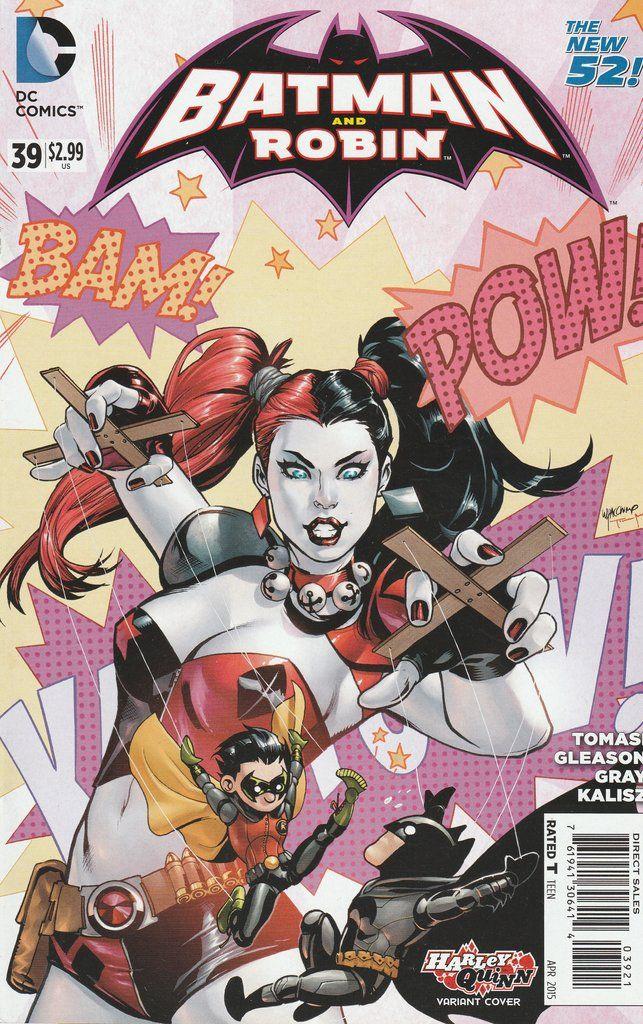 Batman and Robin # 39 DC Comics The New 52! Vol. 2 Variant Cover Harley Quinn