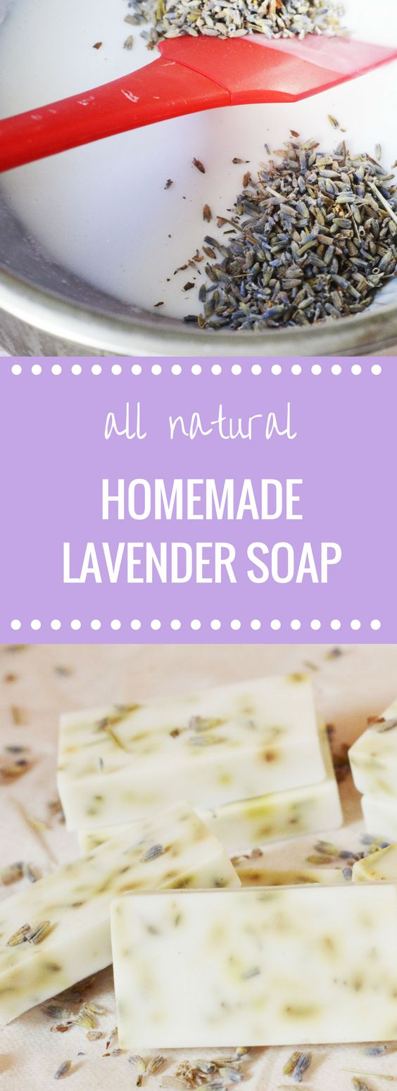 Homemade All Natural Lavender Soap | Happy Money Saver | EASY DIY Craft Idea