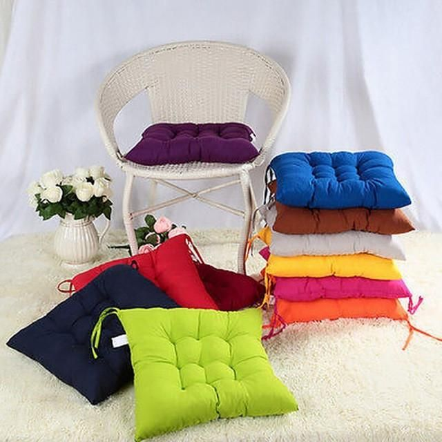 New Square Soft Cotton Seat Cushion Buttocks Chair Cushion Pad Home Office Outdoor