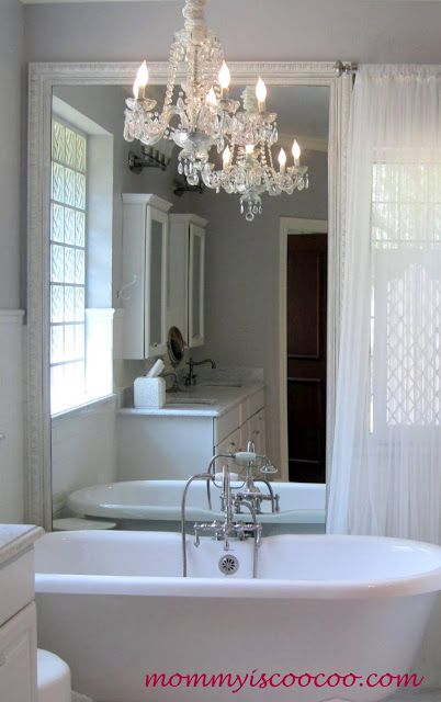I love the chandelier over the tub!!  Mommy-is-Coocoo-bathroom-after.jpg
