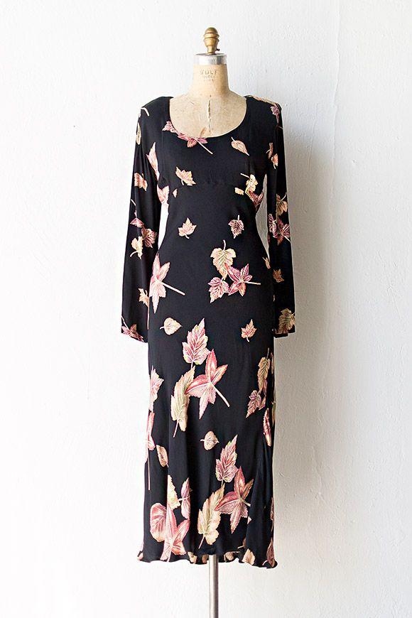 vintage 1990s dress | 90s dress | Falling Leaves Dress #vintage #vintagedress