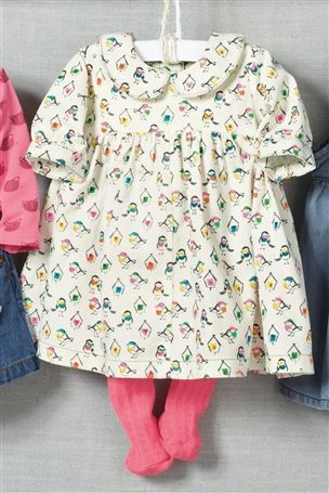 Buy Bird All Over Print Dress And Tights Set (0-18mths) from the Next UK online shop