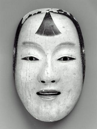No mask of the Kogasshiki type  能面 小渇食  Japanese, Edo period, 17th century, Japanese cypress, MFA