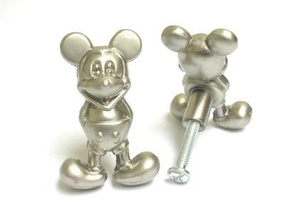 Mickey Mouse Cabinet Door Metal Knobs