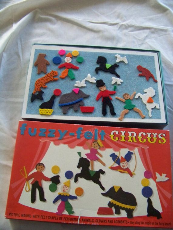 Vintage Fuzzy Felt Circus - hehehe, when I was a child I used to love leaving this on the chair so it stuck to the back of mums skirt!