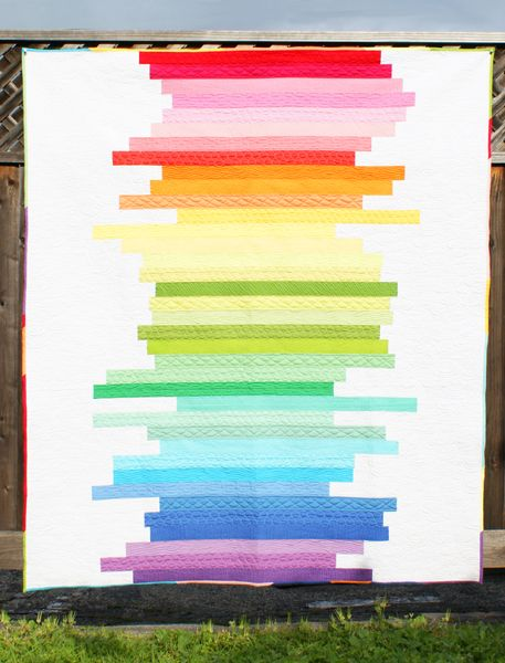 Skinny Strips Free Pattern: Sewing, Quilting Ideas, Craft, Rainbow Quilt, Quilt Patterns, Quilt Kits, Quilting Fabric, Quilts Rainbows