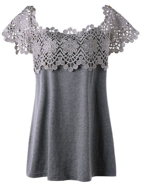 Gamiss Summer 2017 Lace Trim Plus Size Women T-shirts Cutwork Short Sleeve Tees Tops Casual Lady T shirts Slim Female Blusa