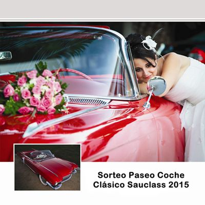 Sorteo Paseo Coche Clásico Sauclass Alquiler Coches Bodas 2015 Sorteo Anual 2015 - Sauclass alquiler de coches clásicos para bodas en Valencia, Alicante y Castellón. Paseo en coche clásico por la ciudad de Valencia con botella de cava.  YouTube: https://youtu.be/aggU3DjoRe0