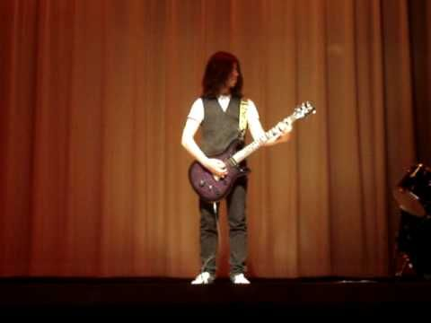 Insane High School Talent Show Guitar Solo http://youtu.be/wRyaBj7LPdc