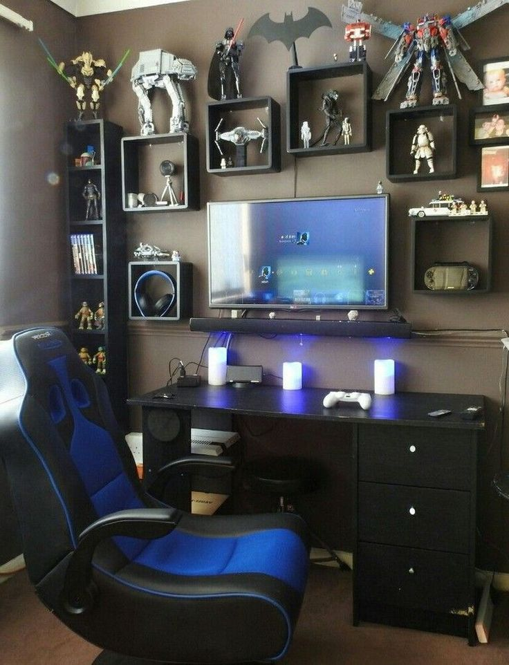 Boys Ultimate Gamer Bedroom Ideas in 2020 | Small game ...