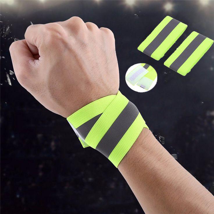 1 Pair Safety Reflective Warning Band Cycling Running Walking Warning Armband Elastic Reflective Safety Belt Wristbands